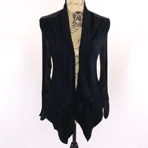Francescas Open Front Cardigan Sweater Black Small
